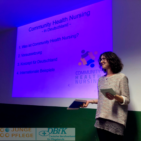 Nina stellt Community Health Nursing vor.